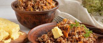 Гречка в мультиварке с поджаркой из лука и моркови