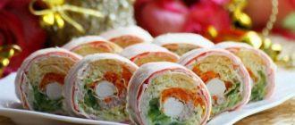 Рулет из лаваша с разными начинками - рецепты приготовления с фото