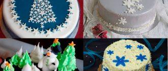 Как украсить новогодний торт 2022 в домашних условиях