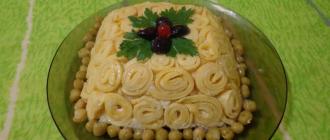 Праздничные вкусные новогодние салаты